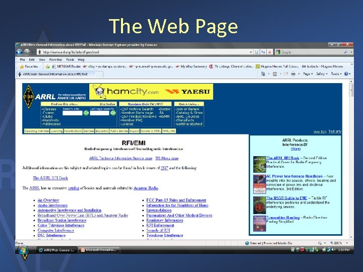 The Web Page