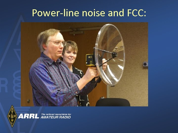 Power-line noise and FCC: