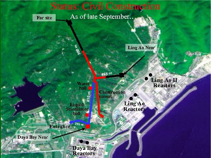 Status: Civil Construction As of late September… m Far site 900 Ling Ao Near