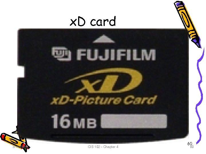 x. D card 3/19/2018 CIS 102 - Chapter 4 60 60