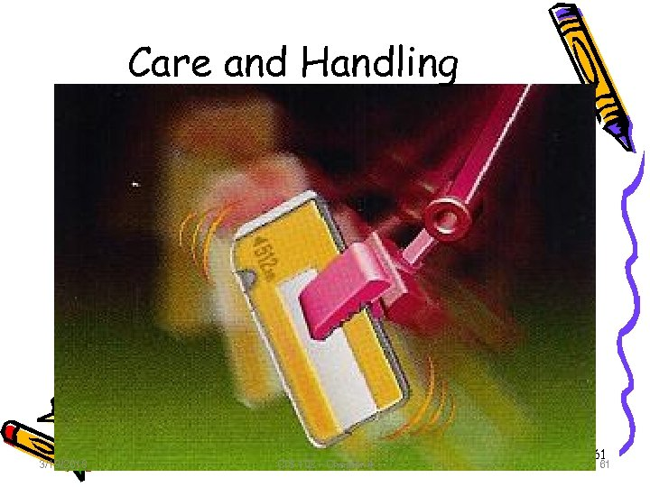 Care and Handling 3/19/2018 CIS 102 - Chapter 4 61 61