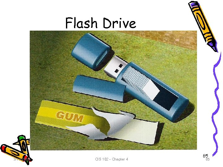 Flash Drive 3/19/2018 CIS 102 - Chapter 4 65 65