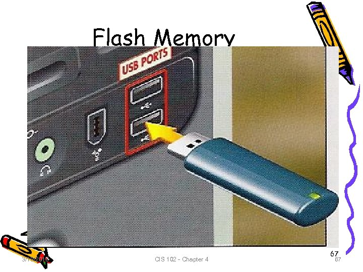 Flash Memory 3/19/2018 CIS 102 - Chapter 4 67 67