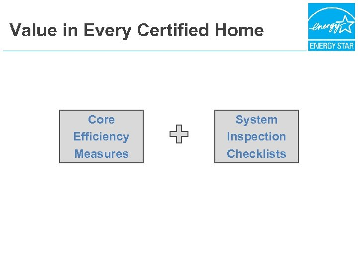 Value in Every Certified Home Core Efficiency Measures System Inspection Checklists