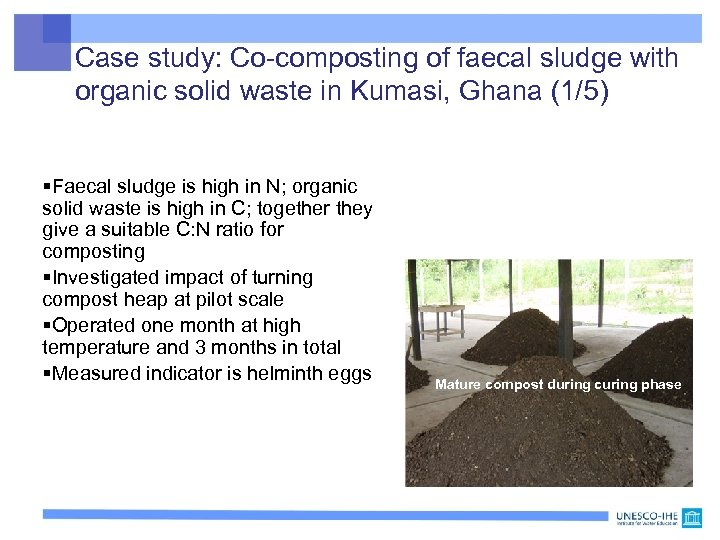Case study: Co-composting of faecal sludge with organic solid waste in Kumasi, Ghana (1/5)