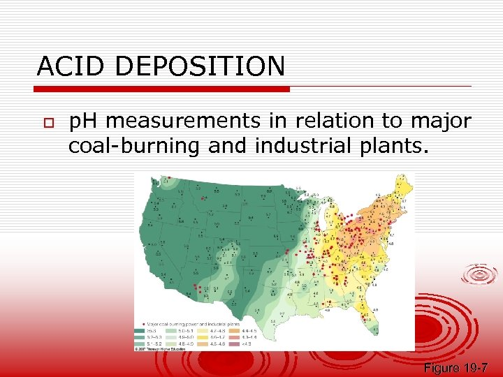 ACID DEPOSITION o p. H measurements in relation to major coal-burning and industrial plants.