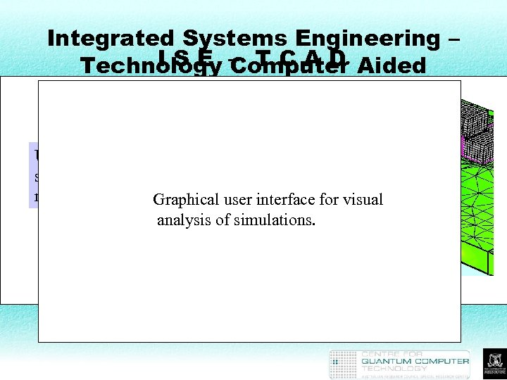 Integrated Systems Engineering – I S E Computer Technology – T C A D