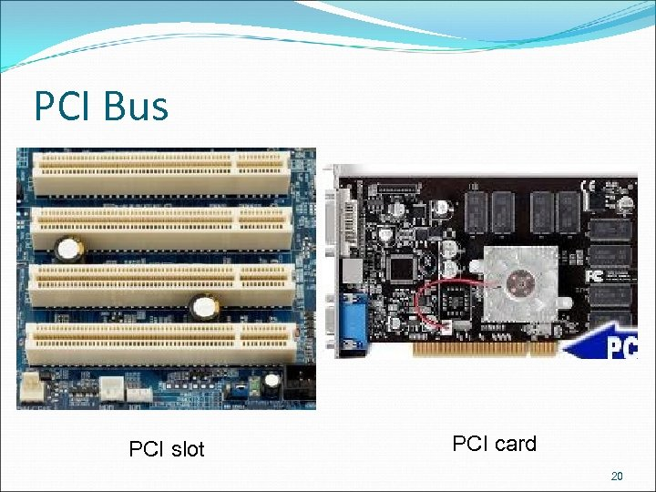 PCI Bus PCI slot PCI card 20