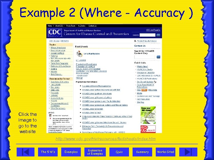 Example 2 (Where - Accuracy ) Click the image to go to the website