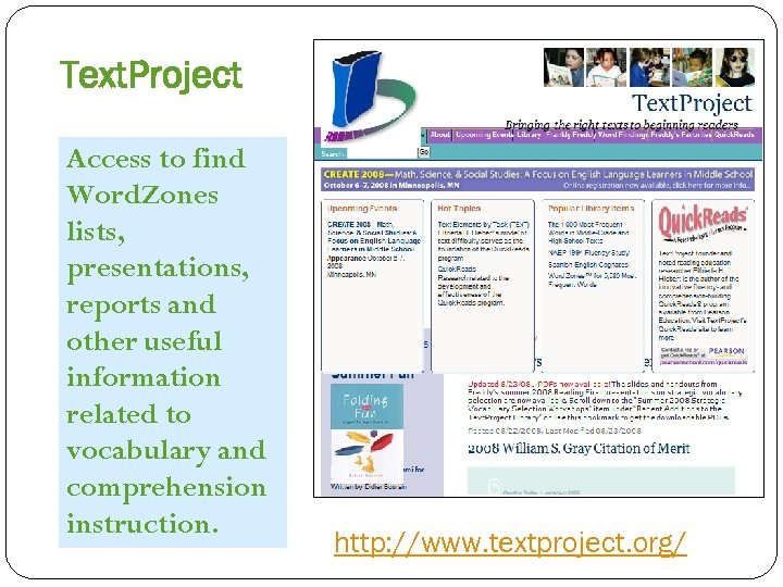Text. Project Access to find Word. Zones lists, presentations, reports and other useful information