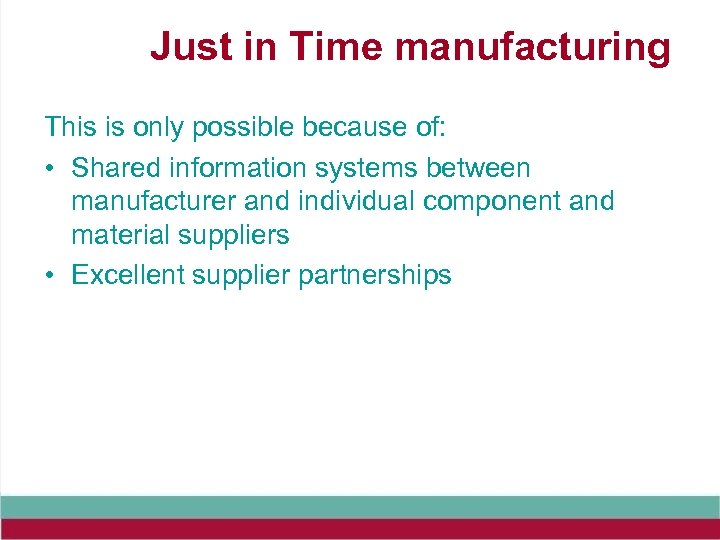what is the difference between synchronous manufacturing and just in time manufacturing In short: you manufacture what your customer has ordered right at the first time, in less time, and with less cost i am occasionally asked, what is the difference between traditional manufacturing versus lean the overarching big picture difference between traditional manufacturing and lean.