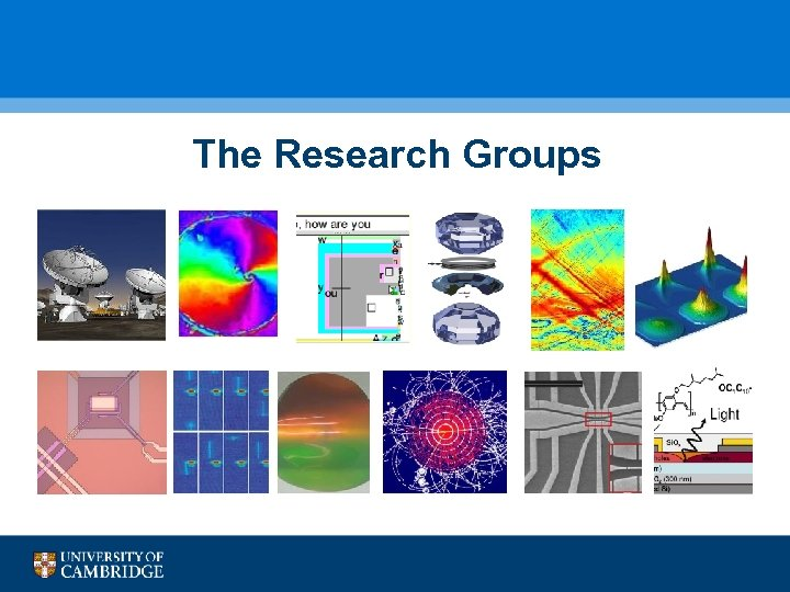The Research Groups