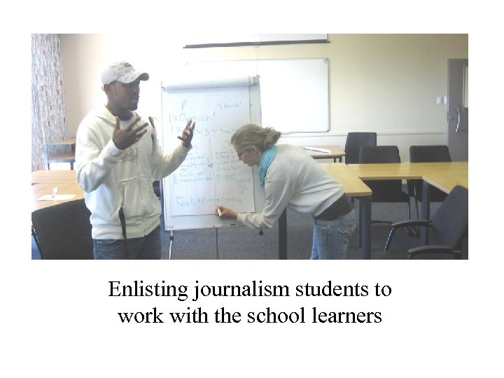 Enlisting journalism students to work with the school learners