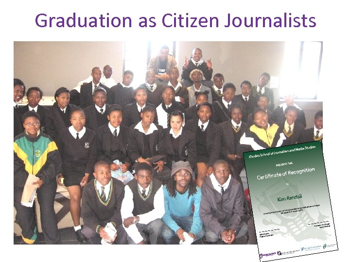 Graduation as Citizen Journalists