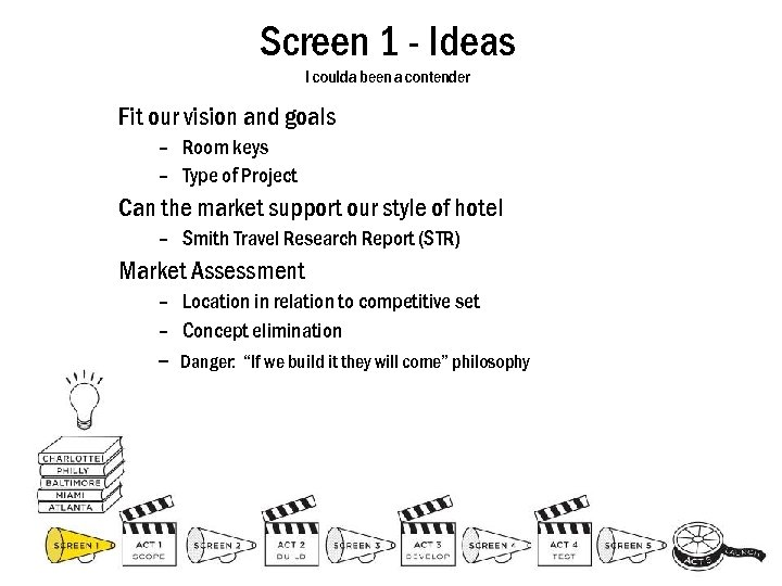 Screen 1 - Ideas I coulda been a contender Fit our vision and goals