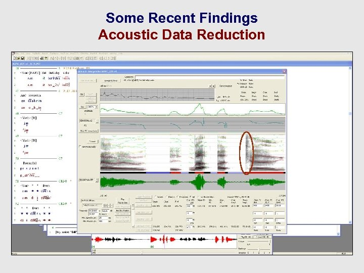 Some Recent Findings Acoustic Data Reduction