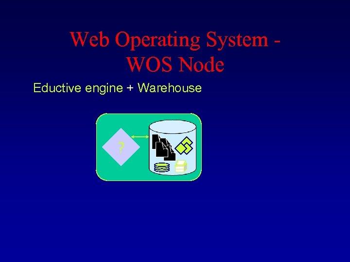 Web Operating System - WOS Node Eductive engine + Warehouse ?