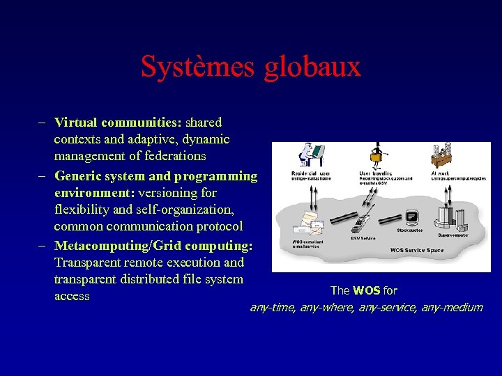 Systèmes globaux – Virtual communities: shared contexts and adaptive, dynamic management of federations –