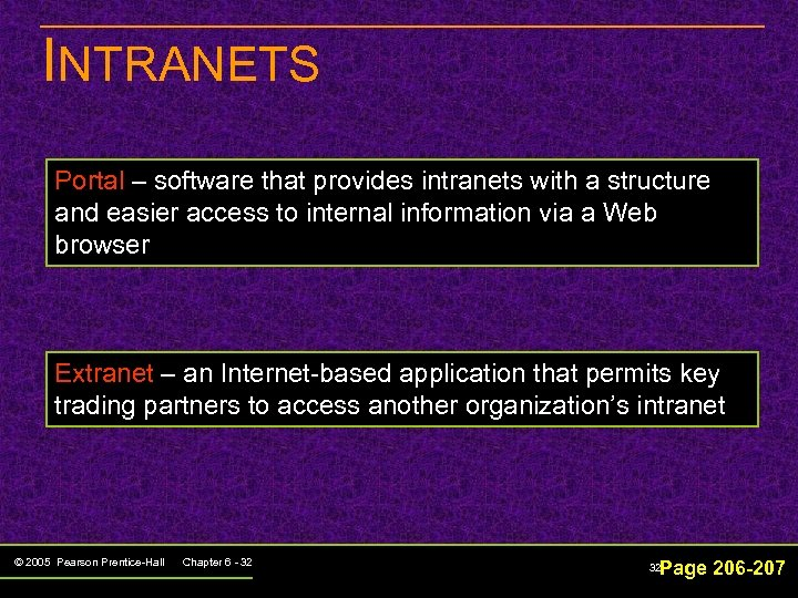 INTRANETS Portal – software that provides intranets with a structure and easier access to
