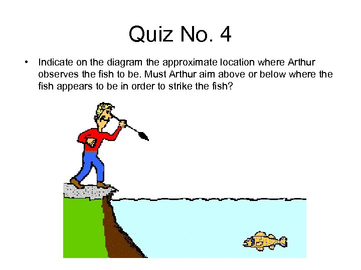 Quiz No. 4 • Indicate on the diagram the approximate location where Arthur observes