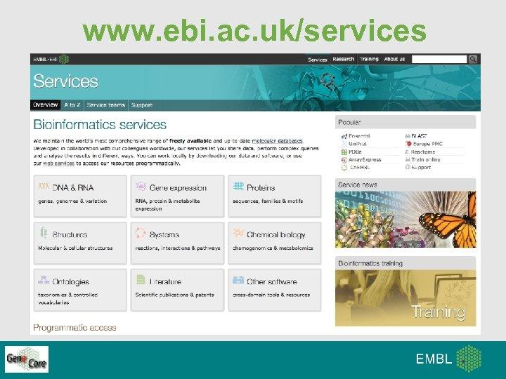 www. ebi. ac. uk/services