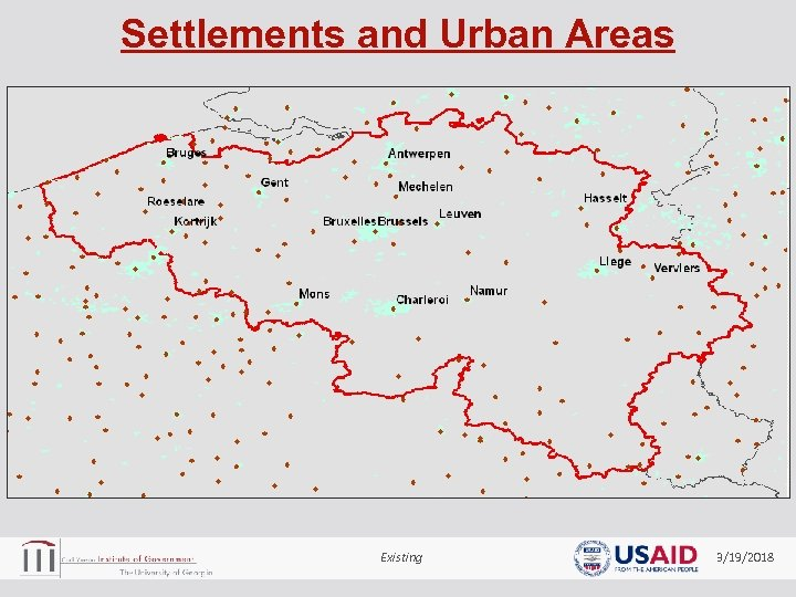 Settlements and Urban Areas Existing 3/19/2018