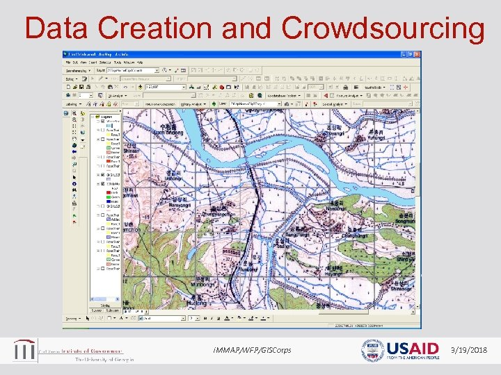 Data Creation and Crowdsourcing i. MMAP/WFP/GISCorps 3/19/2018