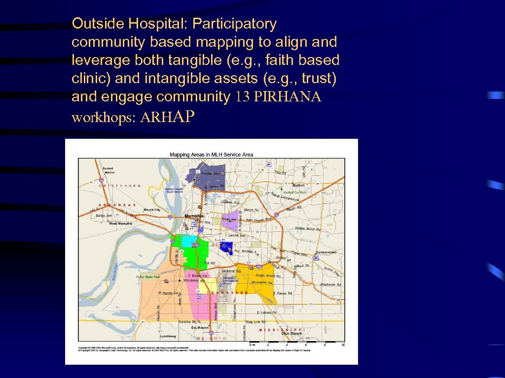 Outside Hospital: Participatory community based mapping to align and leverage both tangible (e. g.