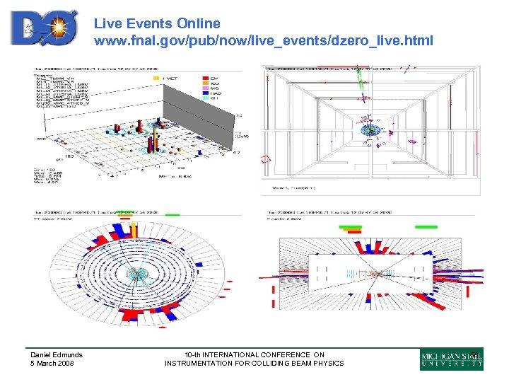 Live Events Online www. fnal. gov/pub/now/live_events/dzero_live. html Daniel Edmunds 5 March 2008 10 -th