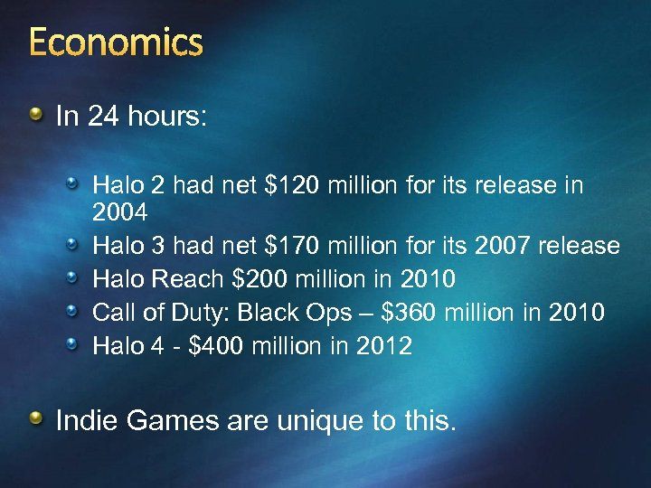 Economics In 24 hours: Halo 2 had net $120 million for its release in
