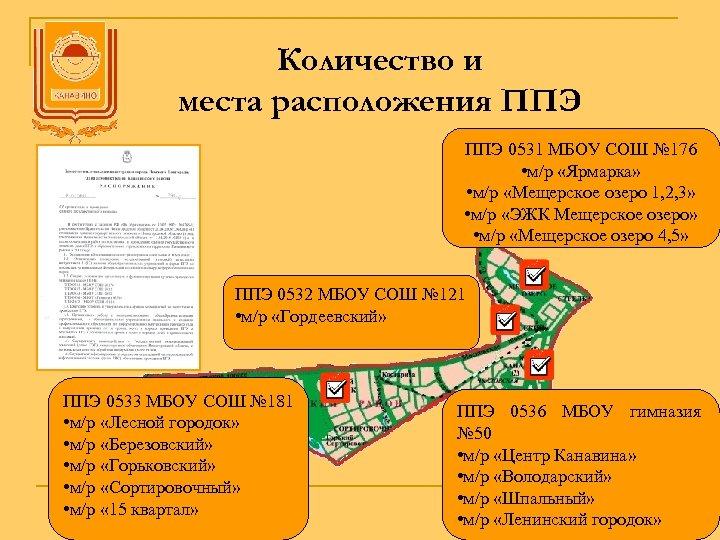 Количество и места расположения ППЭ 0531 МБОУ СОШ № 176 • м/р «Ярмарка» •