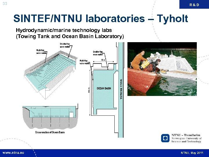33 R&D FAKTA SINTEF/NTNU laboratories – Tyholt Hydrodynamic/marine technology labs (Towing Tank and Ocean