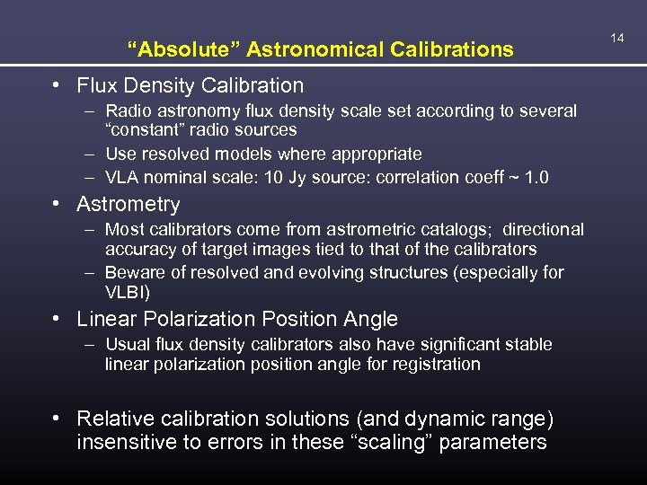"""Absolute"" Astronomical Calibrations • Flux Density Calibration – Radio astronomy flux density scale set"