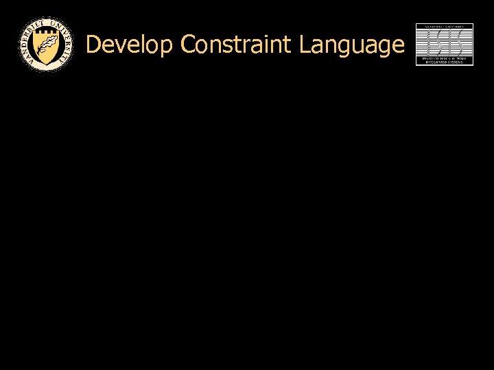 Develop Constraint Language