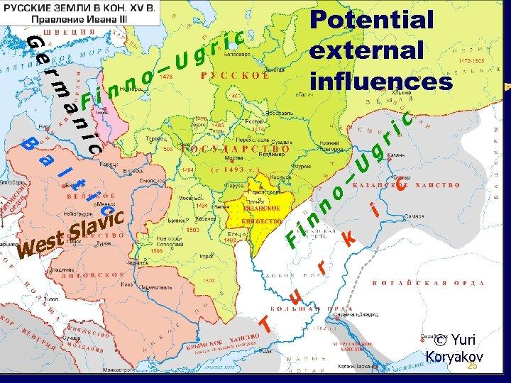 Ge rm an F nn i –U o Potential external influences ric g ic