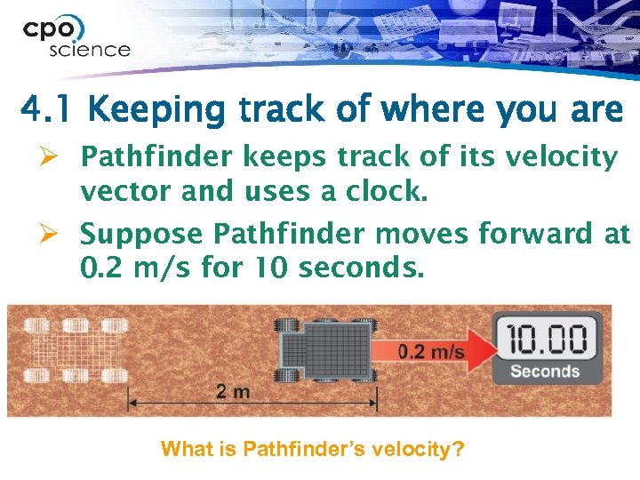 4. 1 Keeping track of where you are Ø Pathfinder keeps track of its