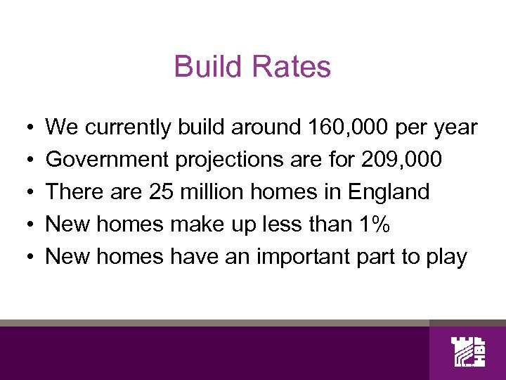 Build Rates • • • We currently build around 160, 000 per year Government