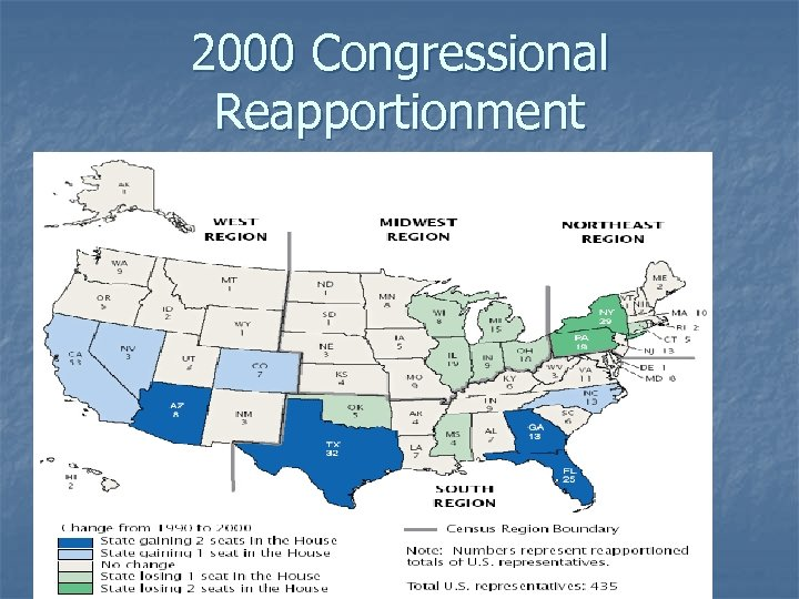 2000 Congressional Reapportionment