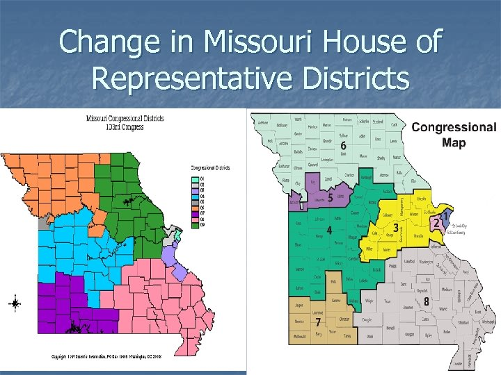 Change in Missouri House of Representative Districts
