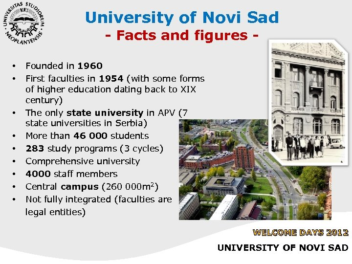 University of Novi Sad - Facts and figures - • • • Founded in