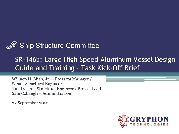 Ship Structure Committee SR-1465: Large High Speed Aluminum Vessel Design Guide and Training –