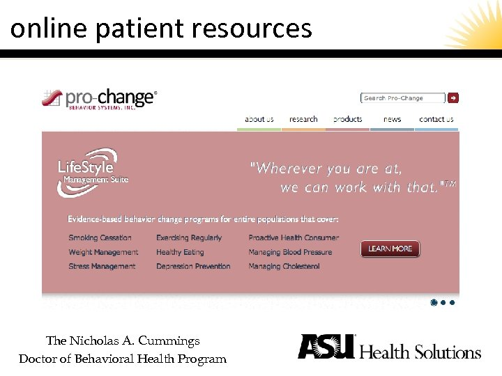 online patient resources The Nicholas A. Cummings Doctor of Behavioral Health Program