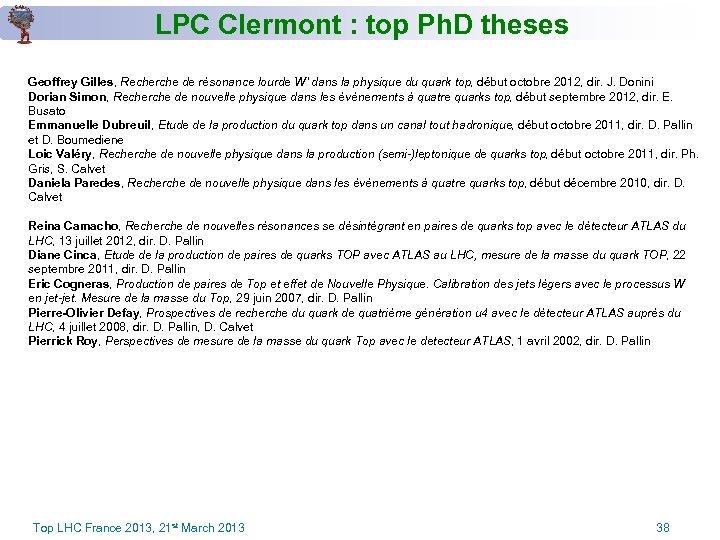 LPC Clermont : top Ph. D theses Geoffrey Gilles, Recherche de résonance lourde W'