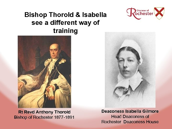 Bishop Thorold & Isabella see a different way of training Rt Revd Anthony Thorold