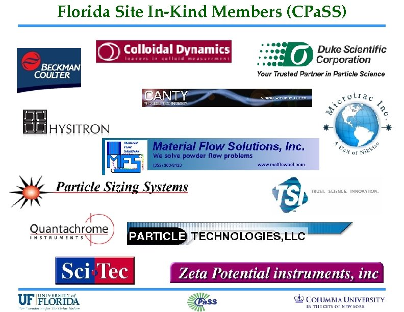 Florida Site In-Kind Members (CPa. SS)