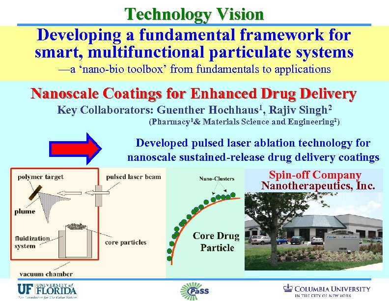 Technology Vision Developing a fundamental framework for smart, multifunctional particulate systems —a 'nano-bio toolbox'