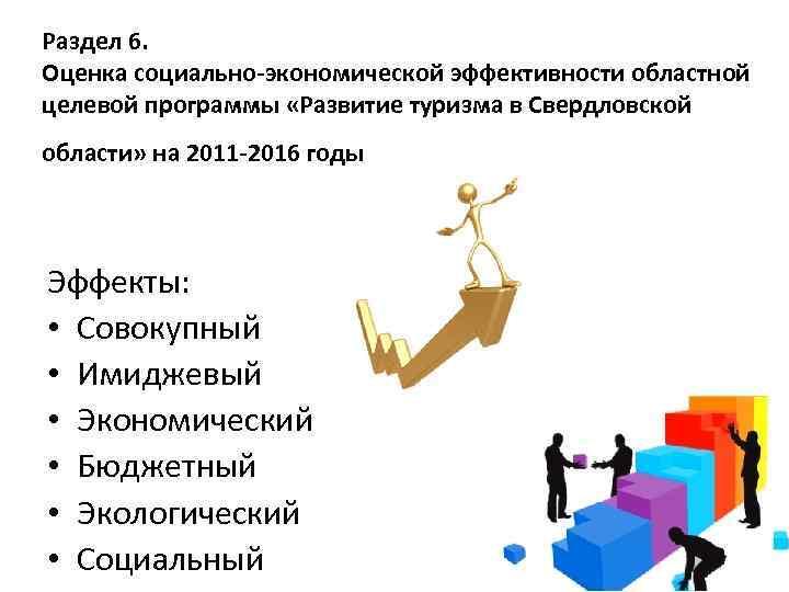 Раздел 6. Оценка социально-экономической эффективности областной целевой программы «Развитие туризма в Свердловской области» на