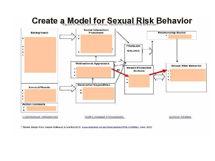 Create a Model for Sexual Risk Behavior