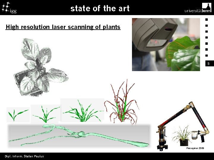 state of the art High resolution laser scanning of plants 5 Perceptron 2008 Dipl.