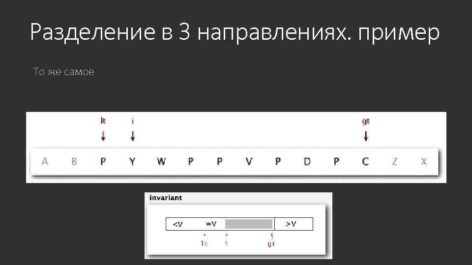 Разделение в 3 направлениях. пример То же самое